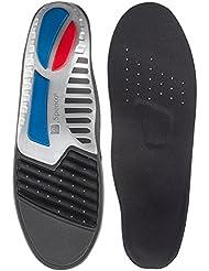 Spenco® Spenco Ironman - Hierro, tamaño 42-44, color azul / gris / rojo / negro
