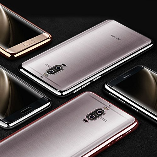 Coque Huawei Mate 9 Pro, MSVII® TPU Souple Transparent Bumper Coque Etui Housse Case et Protecteur écran Pour Huawei Mate 9 Pro - Or JY60017 Argent
