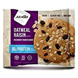 Best Oatmeal Raisin Cookies - NuGo Protein Cookie Oatmeal Raisin, Vegan, Gluten Free Review