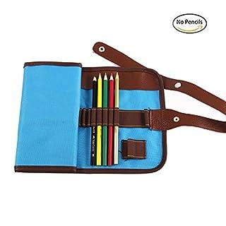 Leinwand Bleistift Wrap für 36farbigen Bleistifte, Rolle Up Leinwand Fall für Erwachsene und Kits (Bleistift nicht im Lieferumfang enthalten)