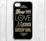Gossip Girl Zitat iPhone Fall – You Know You Love Me, XOXO Gossip Girl, iPhone 5/5S