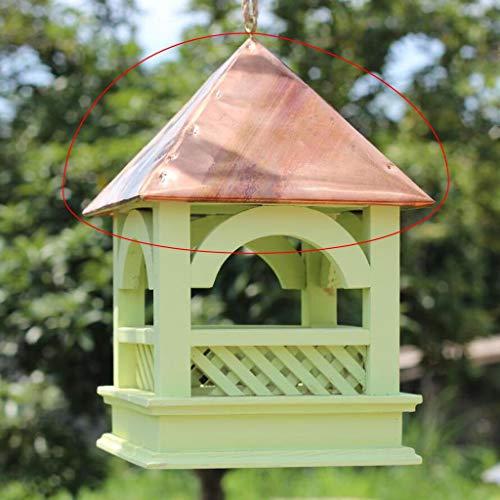 SXZHSM Vogelhäuschen aus Holz mit Außenbehang Vogelfütterer (Color : Pink)