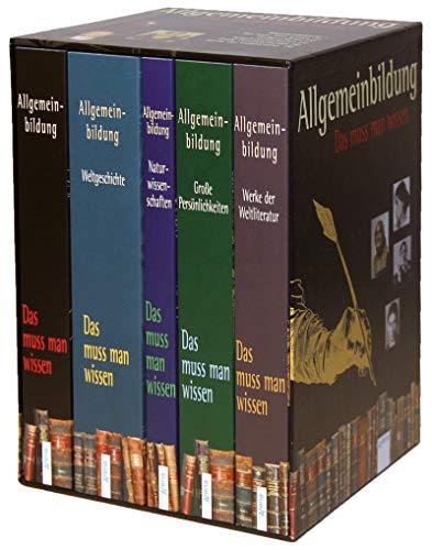 Allgemeinbildung: Schuberausgabe mit 5 Bänden. Das muss man wissen: Weltgeschichte. Naturwissenschaften. Große Persönlichkeiten. Werke der Weltliteratur