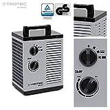 TROTEC TDS 10 P - Riscaldatore elettrico in ceramica, termostato integrato, due livelli di riscaldamento e un livello di aria fredda separato, 2kW