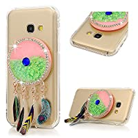A3 2017 Case, Galaxy A3 Glitter Case, YOKIRIN Transparent Clear 3D Creative Moving Floating Sparkle Love Hearts Stars Liquid Bling Protective Case for Samsung Galaxy A3 2017, Green Dreamcatcher