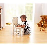 """Preisvergleich für Kinderstuhl""""Herz"""", Shabby Chic, aus Holz, creme"""