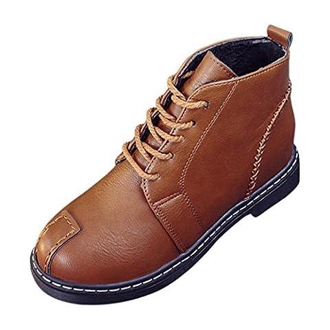 DIKEWANG , Chaussures de ville à lacets pour femme marron marron 35