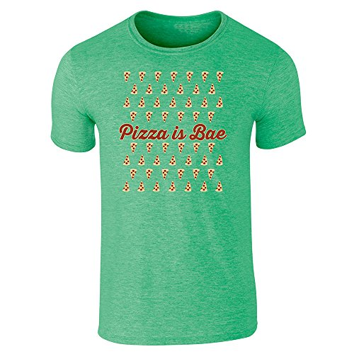 pizza-is-bae-repeating-slice-pattern-funny-mens-heather-irish-green-xl-short-sleeve-t-shirt-by-pop-t