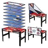 HLC 122*61*80 cm 13 in 1 multifunkniertes Tischspiel--Billard/Basketball/Tischtennis/Hockey/Bogen/Bowling/lagerkugel/Hufeisen/Kragen/Schach/Tic-Tac-Toe/Mikado Spiel/Backgammon