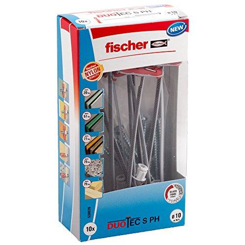 Fischer 539026 Kippdübel DUOTEC 10 S PH LD, für Plattenbaustoffe, 10 Stück