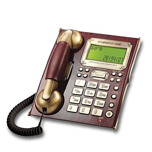 214 Home-office (Landline Telefon europäischen Retro-Home-Festnetz Business-Office-Festnetz Wand-Sprachwahlmaschine 214 * 176 * 88mm (Farbe : Red))