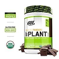 Optimum Nutrition Gold Standard 100% Organic Plant Based Vegan Protein Powder, Chocolate, 722g