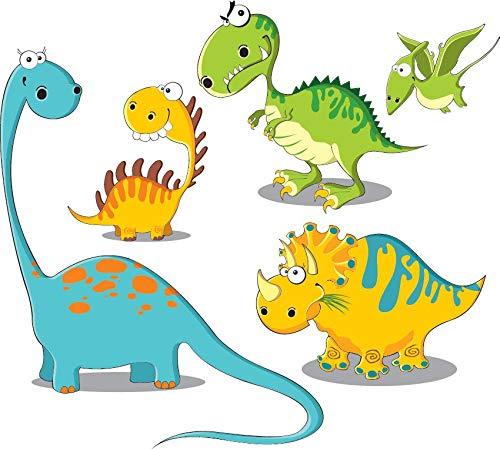 (azutura Spaß Dinosaurier Wandtattoo Set T Rex Triceratops Wand Sticker Kinderkinderzimmer Wohnkultur Erhältlich in 8 Größen XXX-Groß Digital)