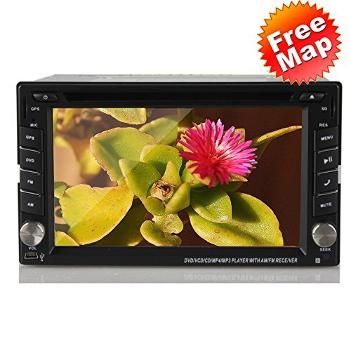 Ouku 2014 Newest Model 6.2-Inch Double-2 DIN In Dash Touch screen LCD Monitor with DVD/CD/MP3/MP4/USB/SD/AMFM/RDS/Bluetooth and GPS Navigation SAT NAV Head Deck Tape Recorder Subwoofer HD:800*480 LCD Free GPS Antenna+Free Official Kudo GPS Map  available at amazon for Rs.27349