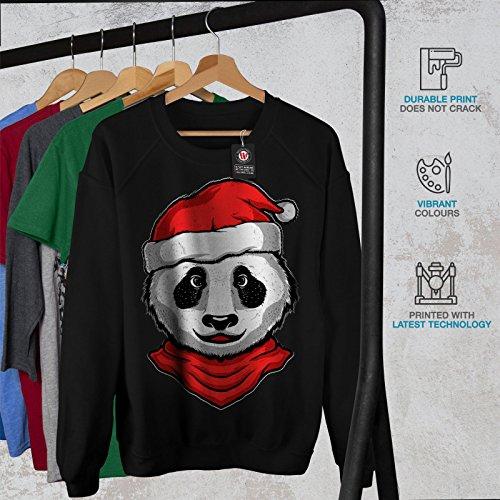 Noël Panda Animal Femme S-2XL Sweat-shirt | Wellcoda Noir