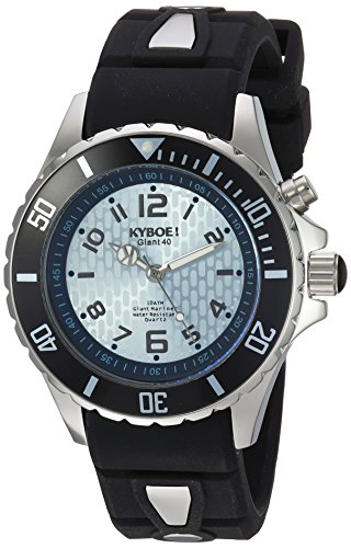 KYBOE! 'Power' Quartz Stainless Steel and Silicone Casual Watch, Color:Black (Model: KY.40-009.15)