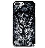 Coque Iphone 6 et 6S rigide , tete de mort , squelette fait sa priere