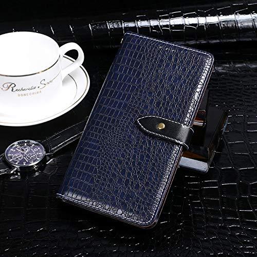 BELLA BEAR Case für Leagoo Z7,Leder Brieftasche Geldbörse Halterung Funktion Weichem PU Material Phone Case Cover for Leagoo Z7 Hülle(Dunkelblau)