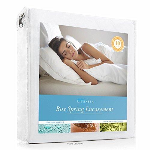 linenspa, wasserdichtes Bett Bug Proof Box Spring umgreifung Displayschutzfolie, Polyester, Full XL (Spring Box Bug)