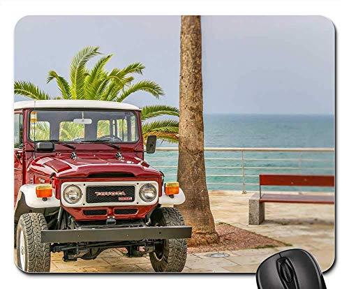 Mouse Pads - Toyota Land Cruiser Vintage Ocean Beach Seaside