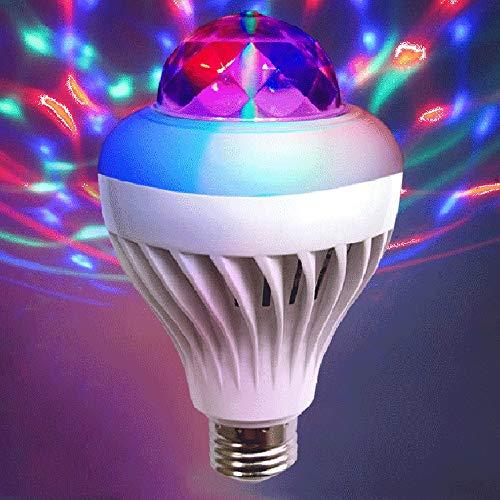 Disco Ball Party Lichter, LED kleine magische Kugel, Bühne Licht Sound aktiviert Mini Birne 3W buntes Licht für DJ KTV Club Bar Party,E27 (Magische Glühbirne)