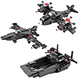 VIvir Creator Jet Fighter Building Bricks Blocks Toy For Kids 231 Pieces (3 In 1 - Military Navy Plane Airplane Engineering ) - Puzzles For Kids For Age 6