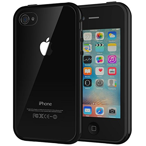 JETech Case Bumper - Funda para Apple iPhone 4/4s, transparente