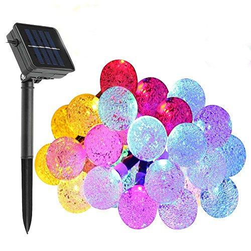 Solare luci della Stringa, WONFAST 30 Della Sfera di Cristallo LED Globe Fata Patio luci per Esterno Giardino