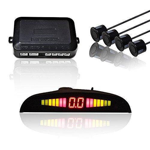 Hengda Einparkhilfe 4 Sensoren mit LED Farb Display Auto Parken Sensor System in Schwarz