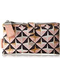 Oilily - Ruffles Geometrical Cosmeticpouch Mhz 1, Organizadores de bolso Mujer, Rosa (Rose), 4x12x23 cm (B x H T)