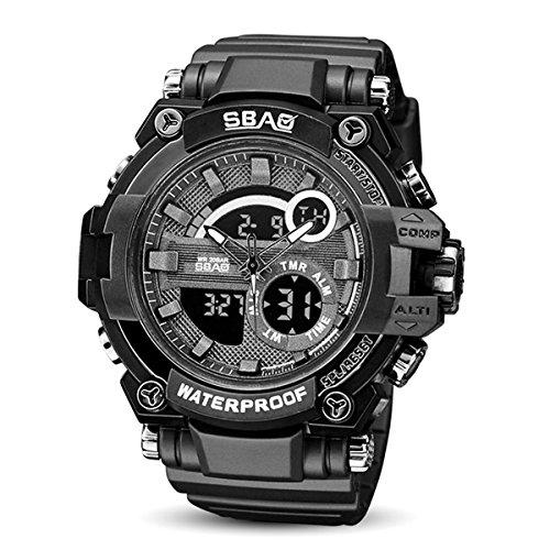 c0950193b000 LONGQI WATCH Reloj de pulsera multifuncional a prueba de golpes para hombre  (negro)