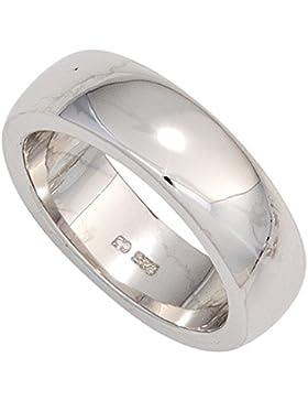 Ring Damenring aus 925 Sterlingsilber schlicht glänzend Silberring