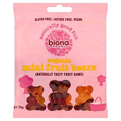 Biona Mini-Fruits Bio Porte 75G - Paquet de 6
