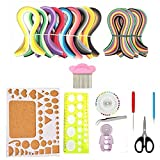 Paper quilling kit include 36 color 900 strisce 3 mm larghezza quilling strisce di carta e 10 quilling attrezzo per quilling Art