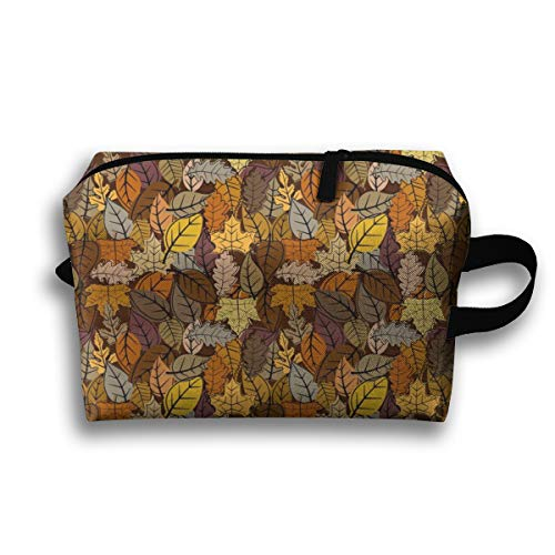 Makeup Cosmetic Bag Leaves In The Fall_84118 Medicine Bag Zip Travel Portable Storage Pouch for Mens Womens 10x4.9x6.3 Inch Shoreline Fällen