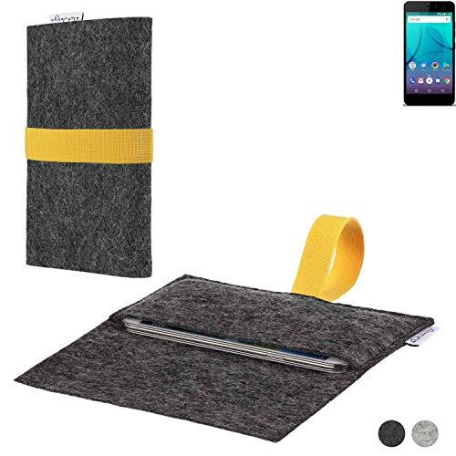 flat.design Handy Hülle Aveiro für Allview P7 Lite passgenaue Filz Tasche Case Sleeve Made in Germany