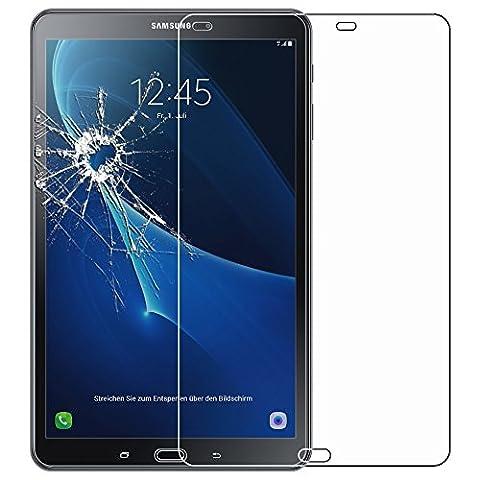ebestStar - pour Samsung Galaxy Tab A 2016 10.1 T580 T585 (A6) [Dimensions PRECISES : 254.2 x 155.3 x 8.2 mm, écran 10.1''] - Film protection écran en VERRE Trempé - Vitre protecteur anti casse, anti-rayure
