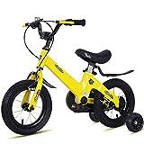 1-1 Kinderfahrrad Leicht Magnesiumlegierung Doppelscheibenbremse Stoßdämpfung Höhenverstellbar Junge Mädchen Fahrrad,Yellow,16IN