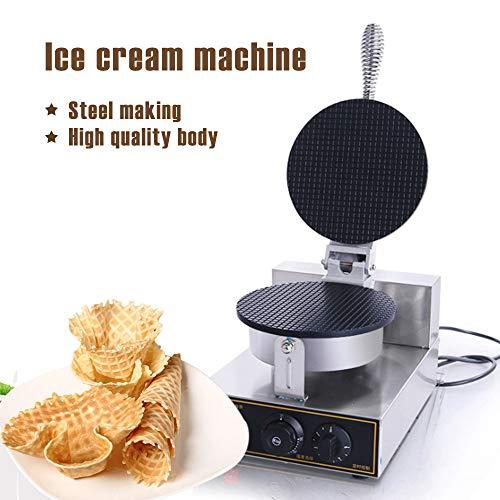 Gaufrier Fabricant de cornet de crème glacée Machine électrique Machine à cuire des oeufs Antiadhésif Commercial Baker Pâtisserie Outils de pâtisserie Machines à gaufres et croques