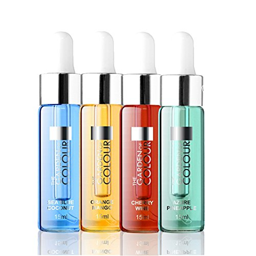 Nagelöl Set N°3, Azur Pineapple, Cherry Wine, Mango Orange, Coconut, 4 x 15 ml