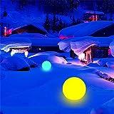 Harddo - Palla decorativa a LED a energia solare, cambia colore, impermeabile, galleggiante, per piscina, giardino, piscina, festa Color Changing