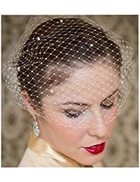S&E Mantille décorée avec peigne, délicate et élégante, vintage, comme une décoration pour des vêtements classiques.