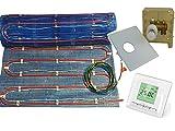 Fußbodenheizung '2systems' als kombinierte Warmwasser- und Elektroheizung von 2,5m² bis 10m², inkl. RTL Multibox und programmierbarer Digital Regler, mit Heizleistung ca. 60-120 Watt/m², Fläche:7.5 qm