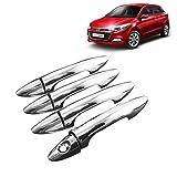 #2: High Quality Chrome Handle Door Latch Cover For Hyundai Elite i20 (1 Key Hole)