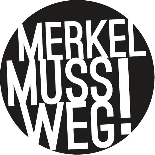 Preisvergleich Produktbild Merkel muss weg! Autoaufkleber