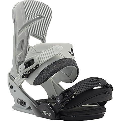 Burton, Attacchi da snowboard Uomo Mission, Beige (Faded), M