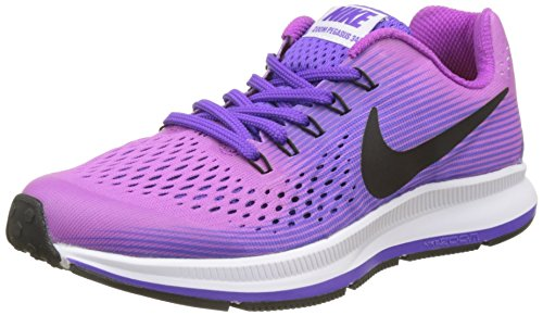 Nike Zoom Pegasus 34 GS, Zapatillas de Running para Niños, Morado Violet/Black/Purple Agate/Hyper Grape, 38.5 EU