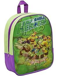 Preisvergleich für Kinder Rucksack - Ninja Turtles - Heroes - grün - Kinderrucksack - mit 1 Hauptfach