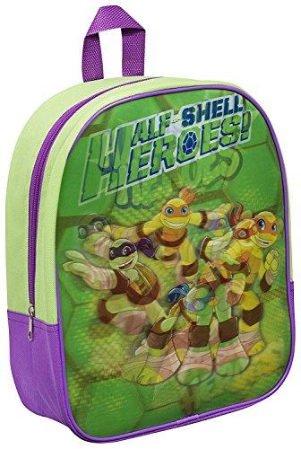 Kinder Rucksack - Ninja Turtles - Heroes - grün - Kinderrucksack - mit 1 Hauptfach Cd-player Für Kinder Spiderman