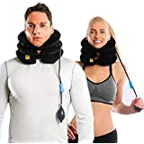 Agon Cervical Neck Brace Traction Support Device For Neck Back Head & Shoulder Pain Inflatable Neck Pillow With...